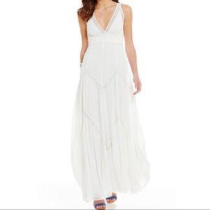 Chelsea & Violet Sleeveless Chevron Maxi Dress NWT